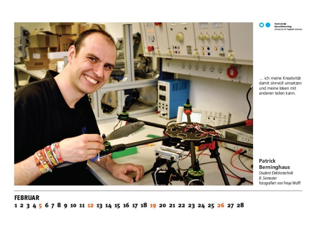 Patrick Berninghaus, Studierender der Elektrotechnik im 8. Semester, fotografiert von Freya Wolff