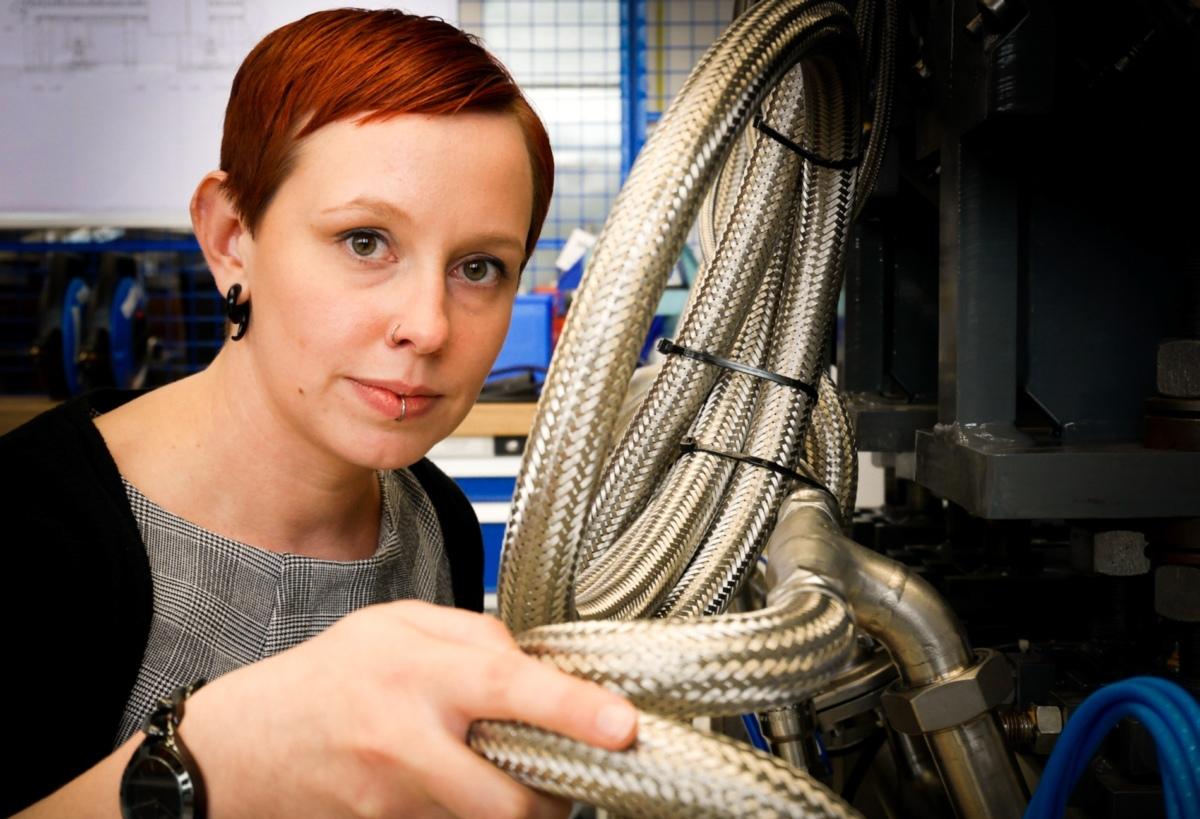 Cathrin Fremuth, Maschinenbauingenieurin bei Varian Medical Systems /Quelle: Hanna Diewald