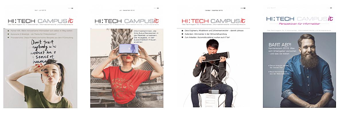 Karrierezeitschrift HI:TECH CAMPUS it, Ausgaben von 2018