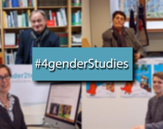 #4genderstudies-Aktion, verwaschene Thumbnails der vier Statements